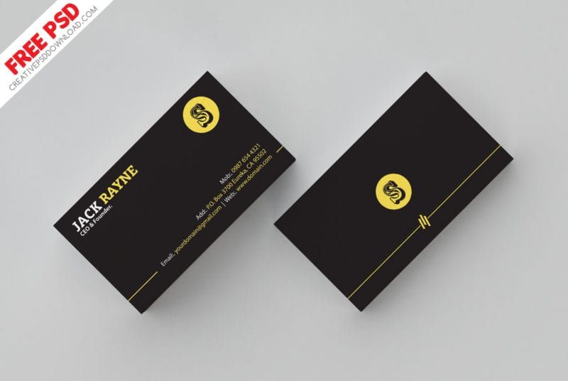 Free Simple Clean Business Card Template Freebiedesign Net