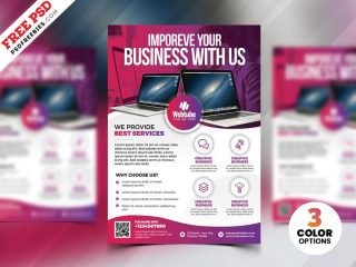 Free Software Solution Business Flyer PSD
