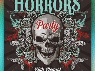 Horrors Party – Free Flyer PSD +Instagram