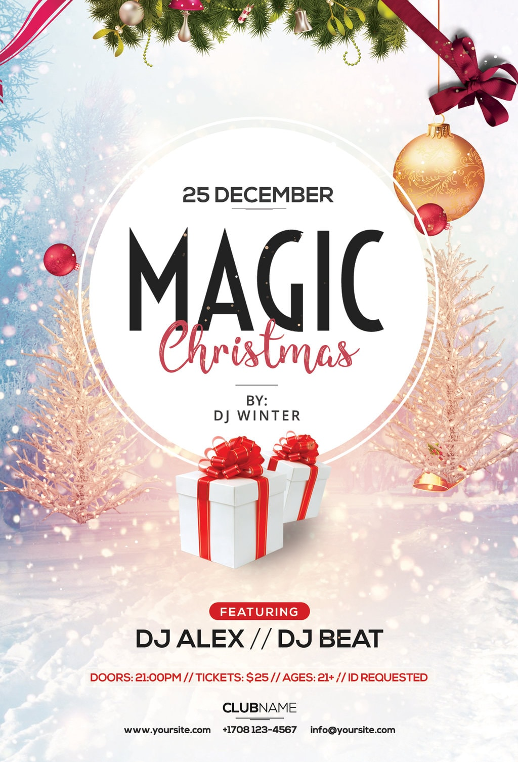 free magic christmas flyer archives freebiedesign net