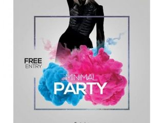 Minimal Party #2 – Free PSD Flyer Template
