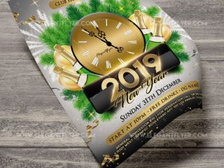 New Year Free Flyer PSD Template + Instagram template