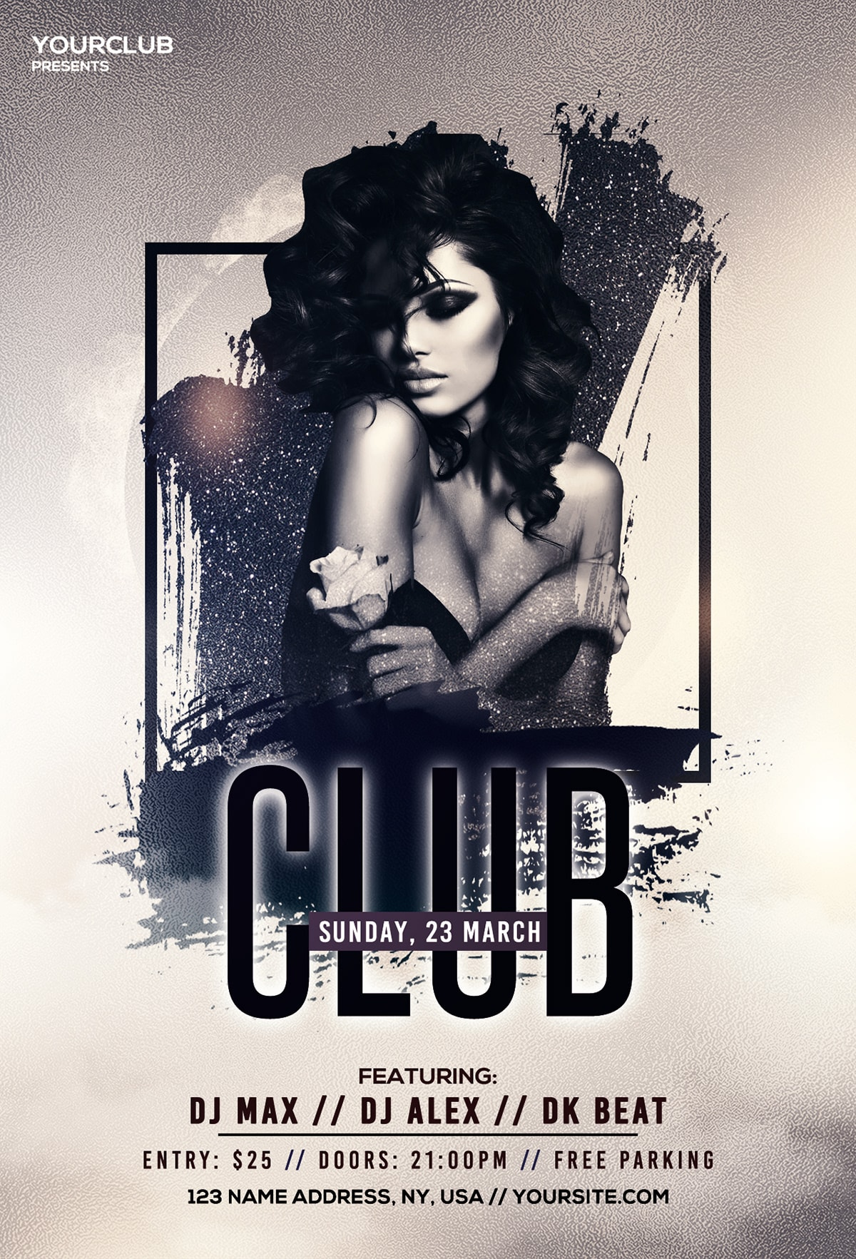 Club & Vibes – Free PSD Flyer Template
