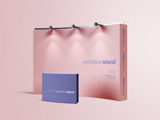 Simple Exhibition Stand Free PSD Mockup