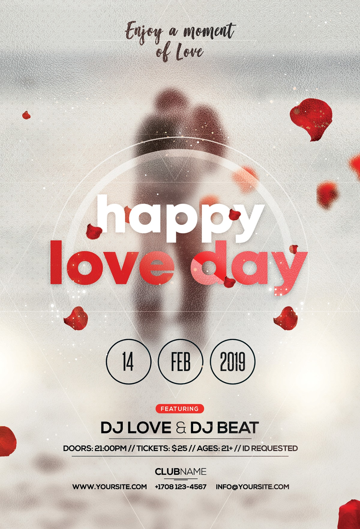 Happy Valentines Day Free Psd Flyer Template Freebiedesignnet