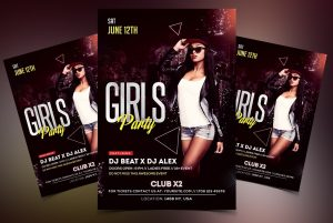 Ladies Party Free PSD Flyer Template