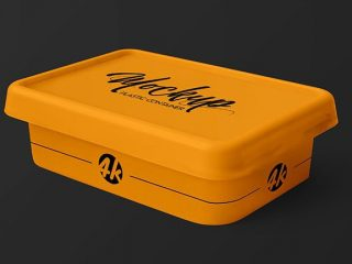 Free Plastic Container PSD Mockup