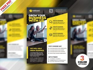 Business Advertising Free Flyer Templates PSD