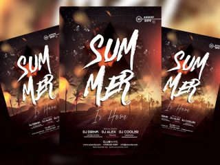 Summer Vibe Party Free PSD Flyer Template