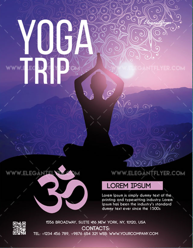 Yoga Trip Free Flyer Template In Psd Freebiedesign Net