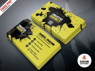Agency Free Business Card Design PSD