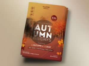 Autumn Days Free PSD Flyer Template