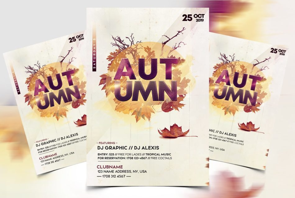 Autumn Fall Festival Party Free Flyer Template