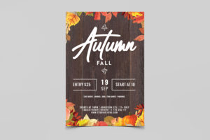 Autumn Fall Free PSD Flyer Template