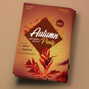 Autumn Party Free PSD Flyer Template