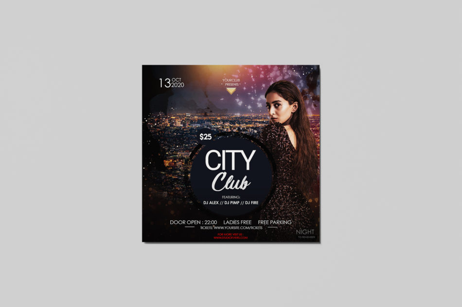 City Club Insta Square Free PSD Flyer Template