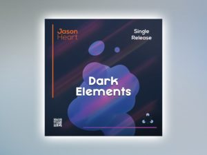 Dark Elements Free PSD Cover Template