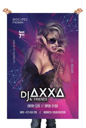 Dj Night Event Free PSD Flyer Template
