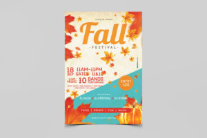 Fall Festival PSD Free Flyer Template