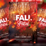 Fall Festival Party Free PSD Flyer Template