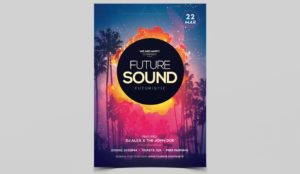 Future Sound PSD Free Flyer Template