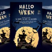 Halloween Event Free PSD Flyer Template