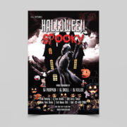 Halloween Spooky Free PSD Flyer Template
