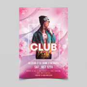 Ladies Night Club Free PSD Flyer Template