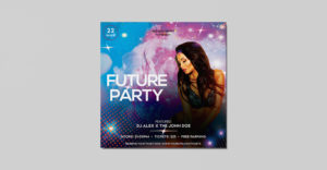 Ladies Future Party Insta Free PSD Flyer