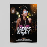 Ladies Night Party Free PSD Flyer Template