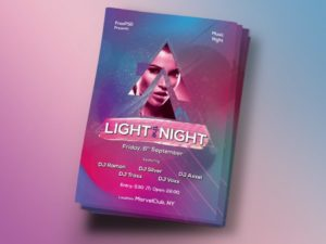 Light the Night Free PSD Flyer Template