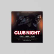 Night Club Free PSD Flyer Template