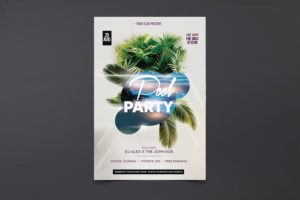 Pool Party Free PSD Flyer Template