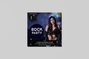 Rock Party Free PSD Flyer Template