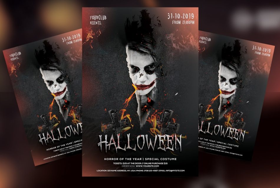 Spooky Night Halloween Free PSD Flyer Template