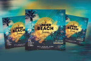 Summer Night Party Free PSD Flyer Template