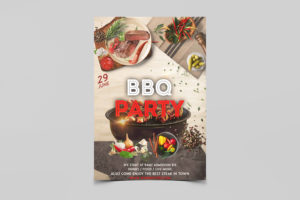 Barbecue Party Free PSD Flyer Template