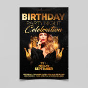 Birthday Celebration Party Free PSD Flyer Template