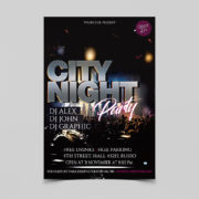 Night Club Event Party Free PSD Flyer Template