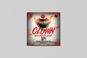 Clown Halloween Event Free PSD Flyer Template