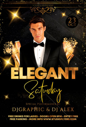 Elegant Night Party Free PSD Flyer Template