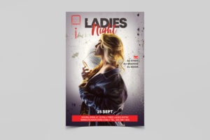 Ladies Club Night PSD Free Flyer Template