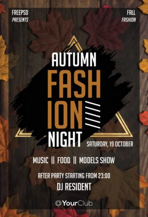 Fashion Autumn Night Free PSD Flyer Template