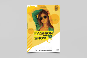 Event Fashion Show Minimal Free PSD Flyer Template