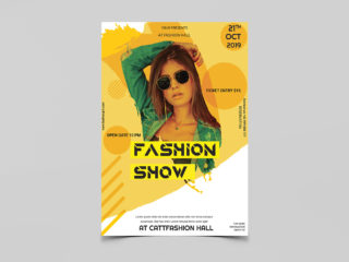 Event Fashion Show Free PSD Flyer Template