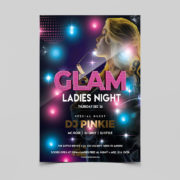 Glamour Ladies Party Free PSD Flyer Template