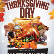 Thanksgiving Happy Day Free Flyer PSD Template