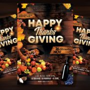 Happy Thanksgiving Day Flyer Free PSD Template