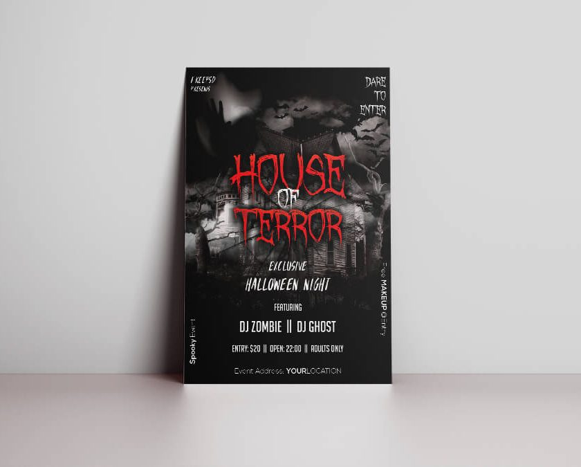 Halloween Night Terror PSD Free Flyer Template