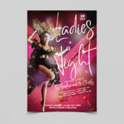 Dance Club Ladies Night Free PSD Flyer Template